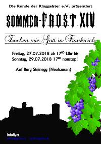 Sommer-F.R.O.S.T. XIV - Zocken wie Gott in Frankreich @ Burg Steinegg
